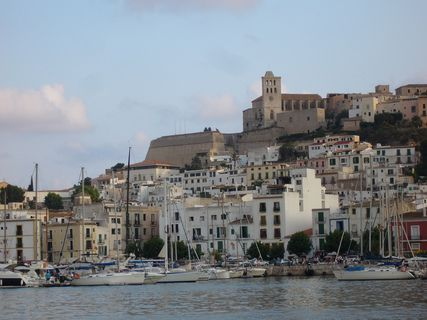 El barrio de la Marina en Ibiza