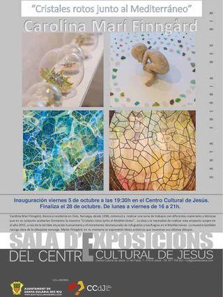 """Cristales rotos junto al Mediterráneo"", exposición de Carolina Marí Finngärd"
