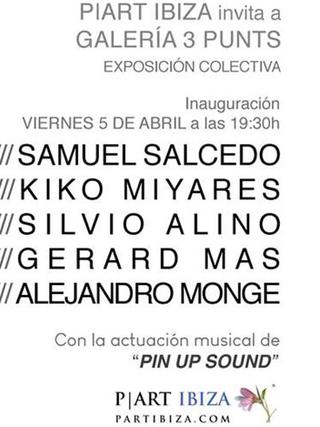 P|Art Ibiza invita a la galería 3Punts de Barcelona. Exposición colectiva