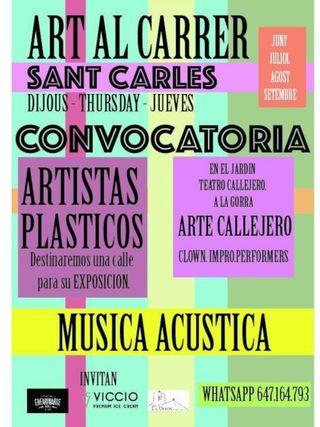 Art al carrer: Arte y Música cada jueves en San Carlos