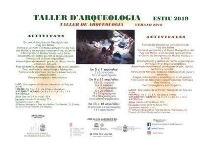 Talleres de arqueología en el Museo Puig des Molins