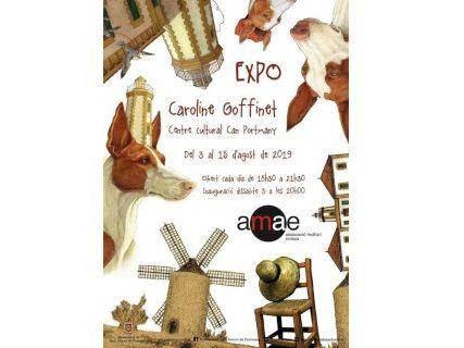 Exposición de Caroline Goffinet en Can Portmany