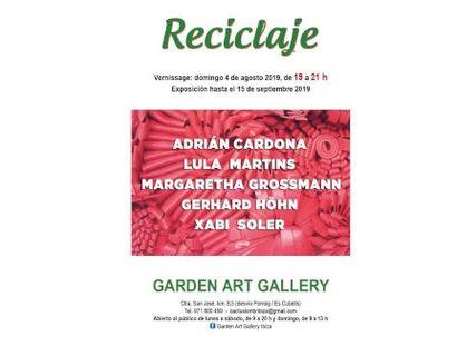 Reciclaje, exposición colectiva en Garden Art Gallery Ibiza