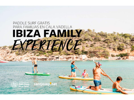Ibiza Family Experience: Paddle Surf gratuito para familias en Cala Vadella