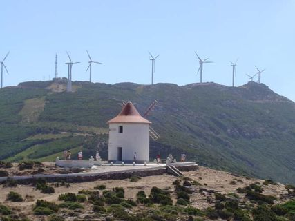 The wind mills of the Cap Corse