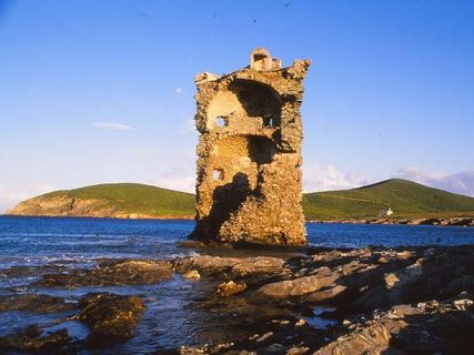 The coastal towers of the Cap Corse