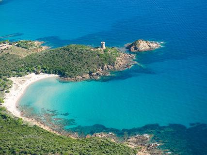 Fautea tower and beach Lavu Santu