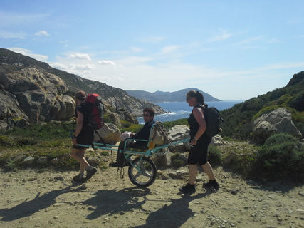 "Hiking ""joëlette"" Pozzines Cuscione"