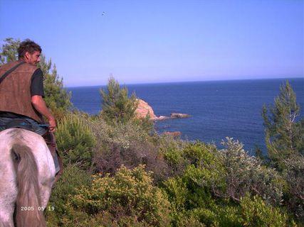 Horse riding between sea & mountains