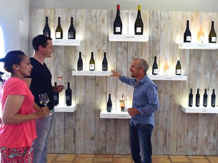 Dégustation des vins du domaine d'Alzipratu