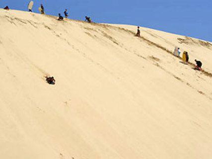 Glisse sur les dunes