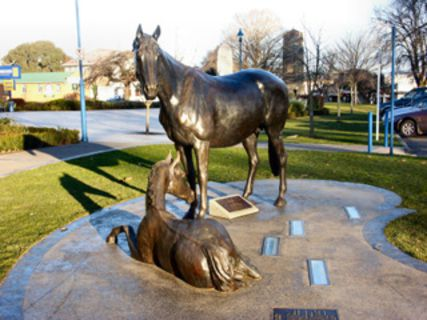 Equine Statue and Equine Stars Walk of Fame