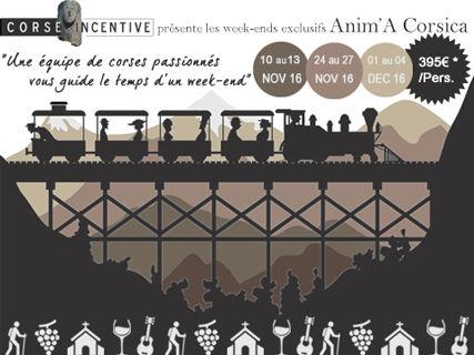 Week-end  à la découverte de la Corse authentique (voyage en train...)