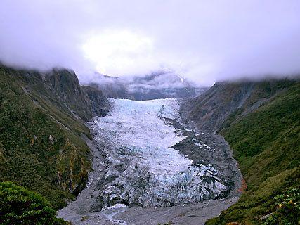 Approche du glacier Fox