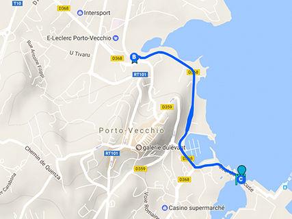 Parcours de running A Marina (sur la marine)