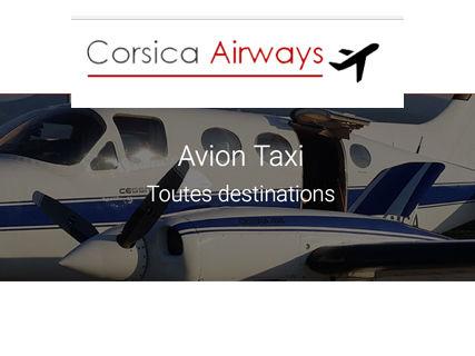Réservez un vol avec Corsica Airways (avion-taxi)
