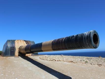 Mirador cañón Vickers, Fortaleza de la Mola